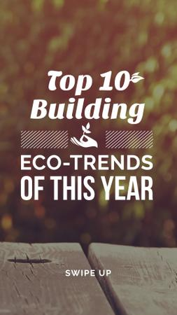 Eco friendly Building materials Instagram Story – шаблон для дизайну
