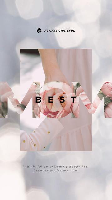 Plantilla de diseño de Child and Mom Holding Hands on Mother's Day Instagram Video Story
