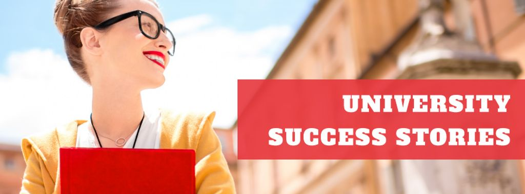 University success stories with smiling Woman — Створити дизайн