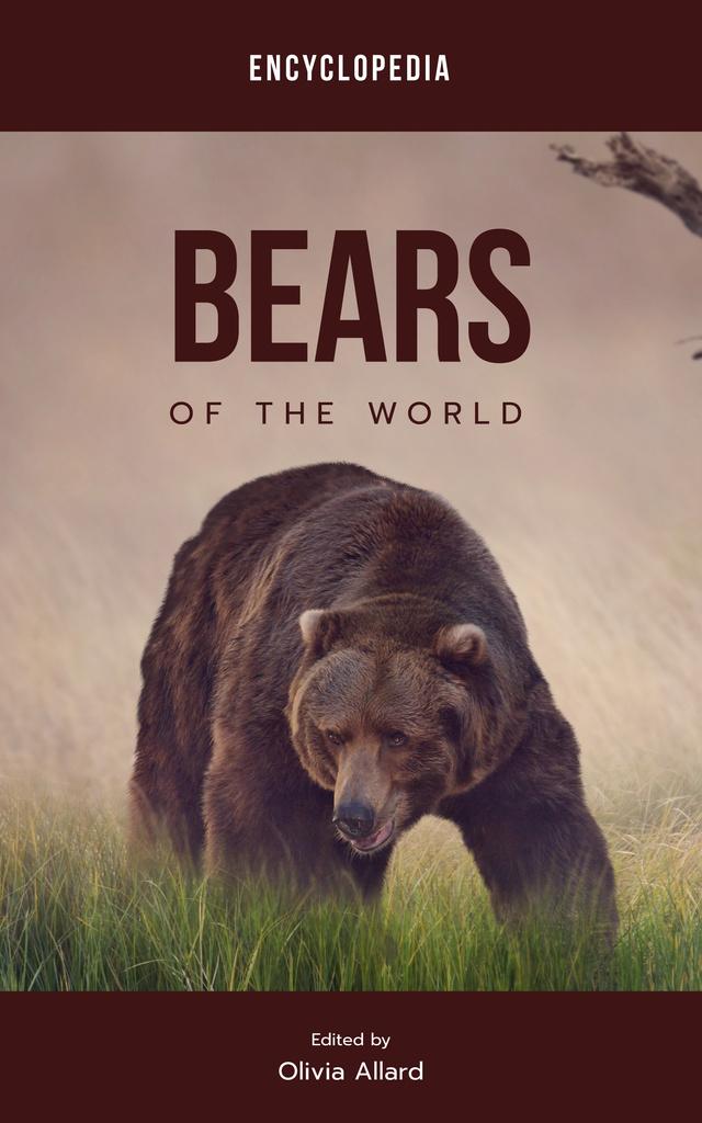 Ontwerpsjabloon van Book Cover van Wild Bear in Habitat