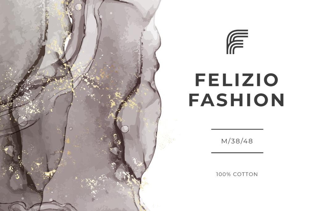 Fashion Brand ad on grey watercolor pattern — ein Design erstellen