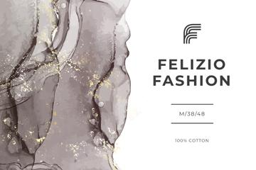 Fashion Brand ad on grey watercolor pattern
