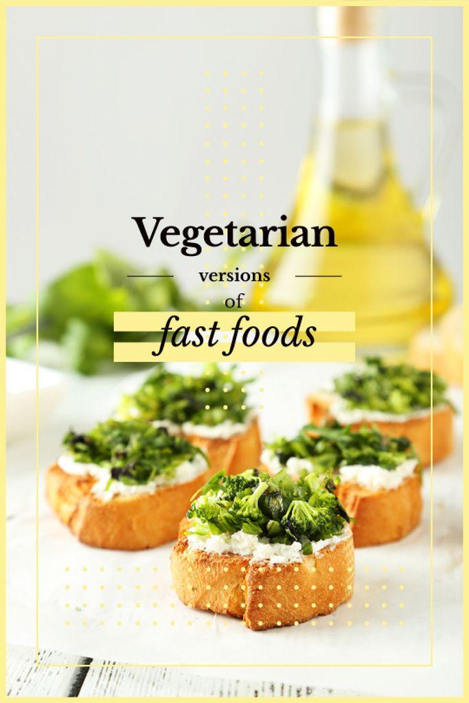 Vegetarian Food Recipes Bread with Broccoli — Modelo de projeto