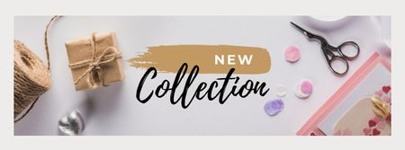 Ontwerpsjabloon van Facebook cover van New Collection with Handmade Tools