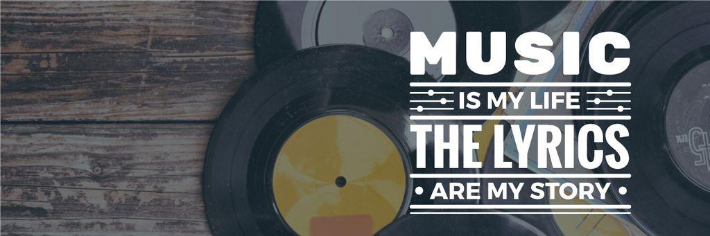 Vinyl records with inspirational inscription — Create a Design