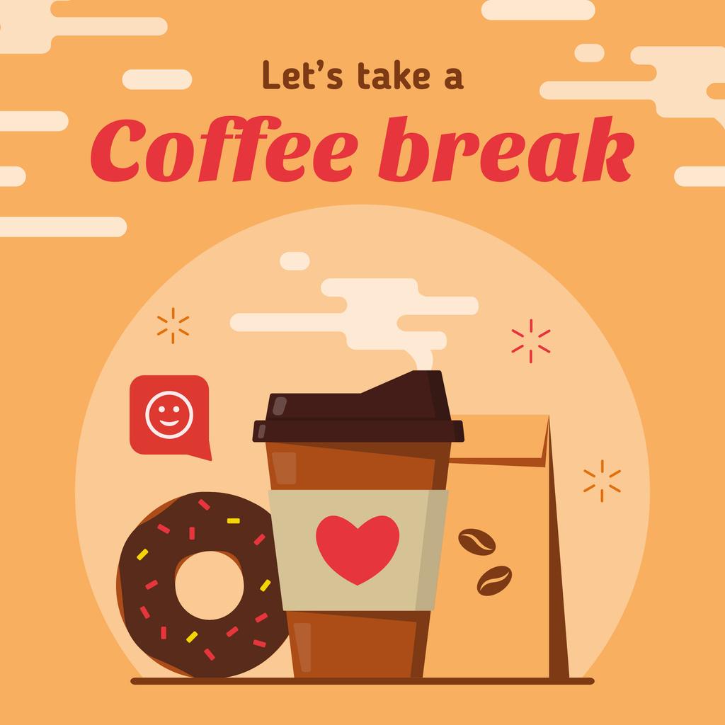 Coffee cup and doughnut — ein Design erstellen