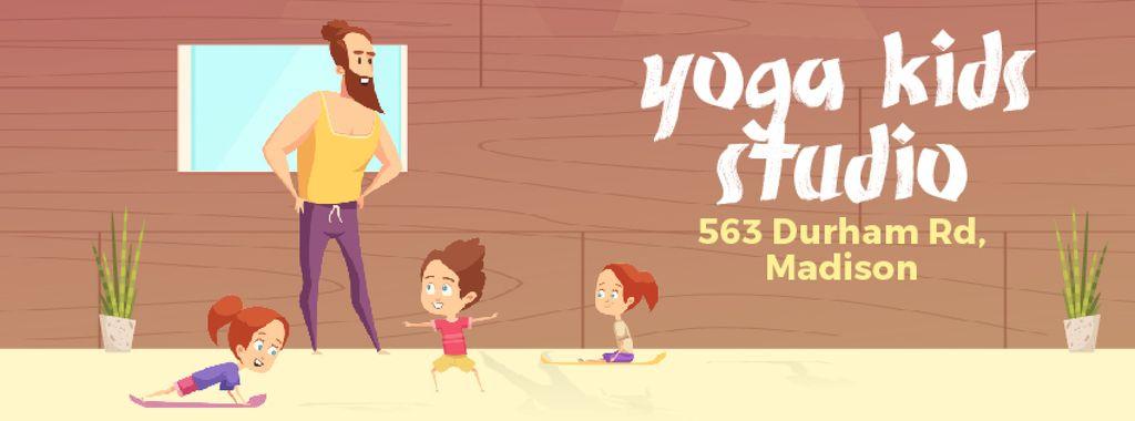 Kids doing yoga with coach — Crear un diseño