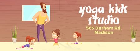 Kids doing yoga with coach Facebook Video cover Modelo de Design