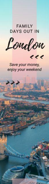 London Tour Invitation City View Skyscraper – шаблон для дизайну