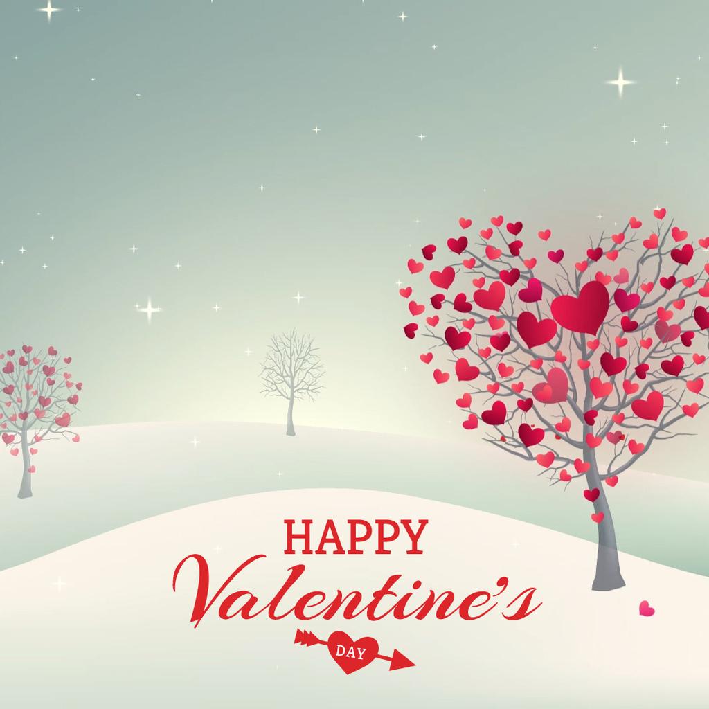 Valentine's Day Trees with Hearts — Створити дизайн