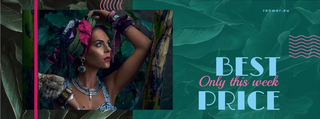 Fashion Ad with Attractive Woman — Modelo de projeto