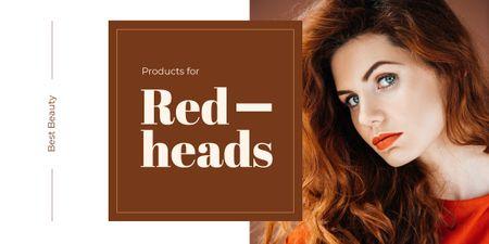Young redhead woman Imageデザインテンプレート