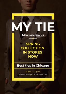 Tie store Ad with Handsome Man
