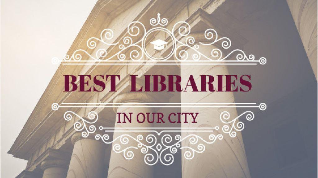 Best libraries poster - Vytvořte návrh
