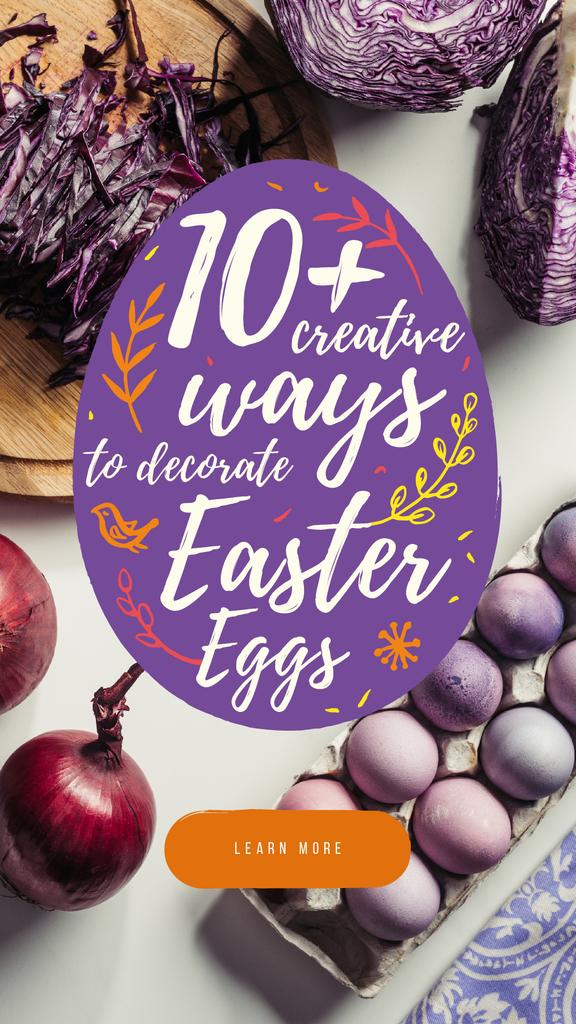 Colored Easter eggs — Crear un diseño
