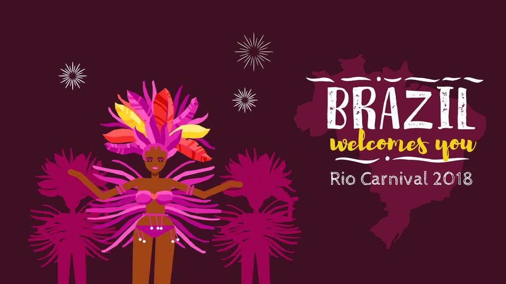 Women Dancing at Brazilian Carnival — Modelo de projeto