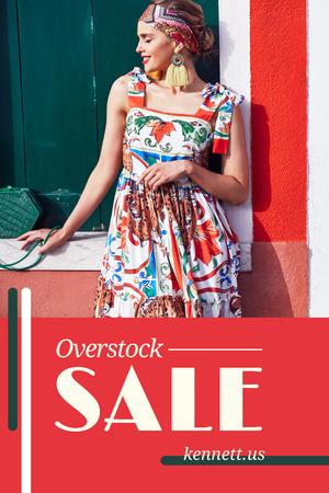 Ontwerpsjabloon van Pinterest van Girl in bright dress