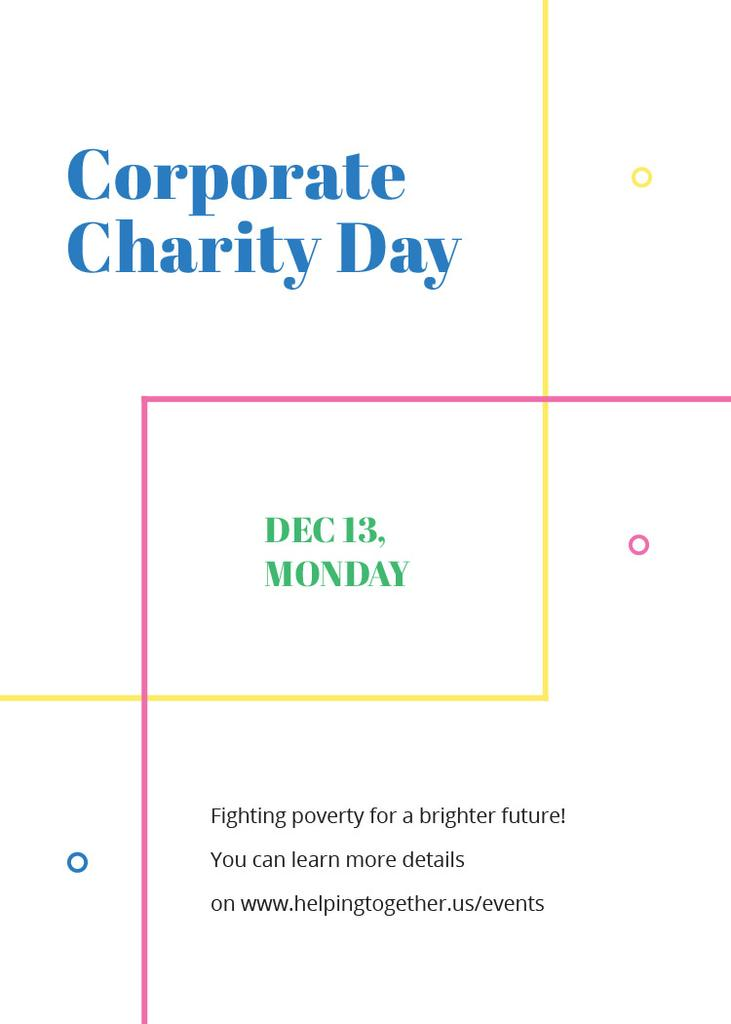 Corporate Charity Day on simple lines — Modelo de projeto