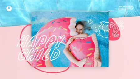 Modèle de visuel Girl swimming in pool - Full HD video