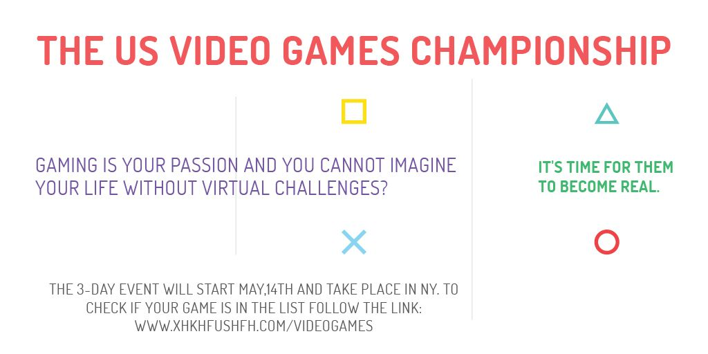 Video games Championship — Crea un design