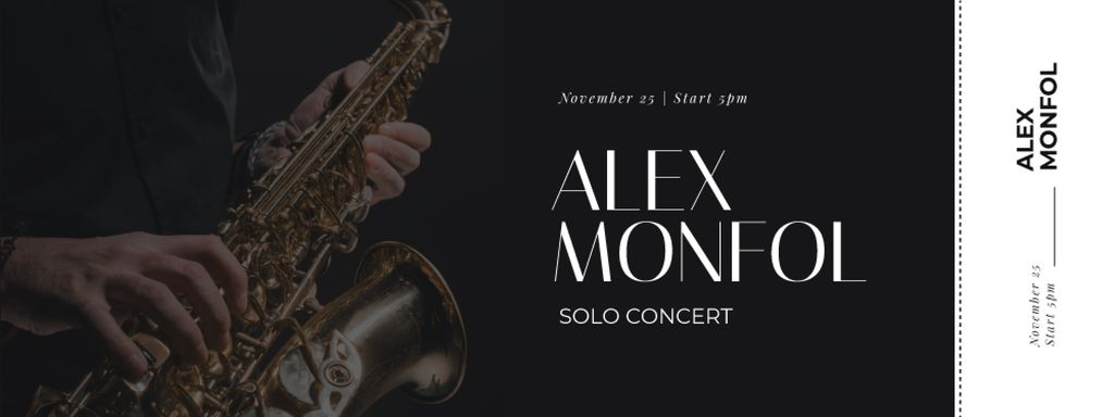 Jazz Festival Musician Playing Saxophone — Create a Design