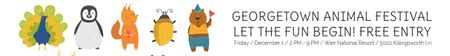 Designvorlage Georgetown Animal Festival für Leaderboard