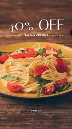 Template di design Pasta Restaurant offer with tasty Italian Dish Instagram Story
