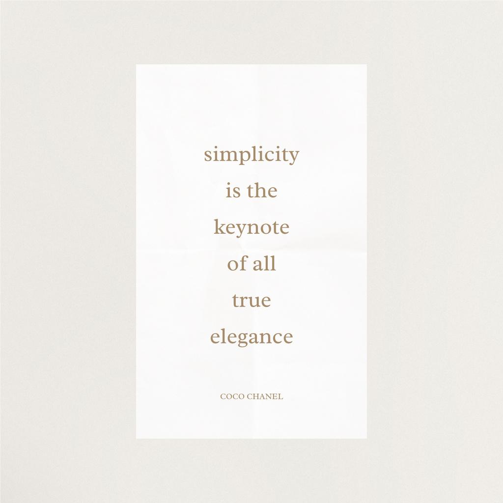 Elegance quote in white frame — Crea un design