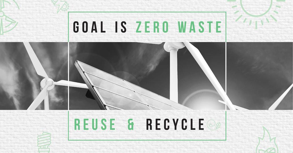 Concept of Conserve energy Facebook AD Modelo de Design