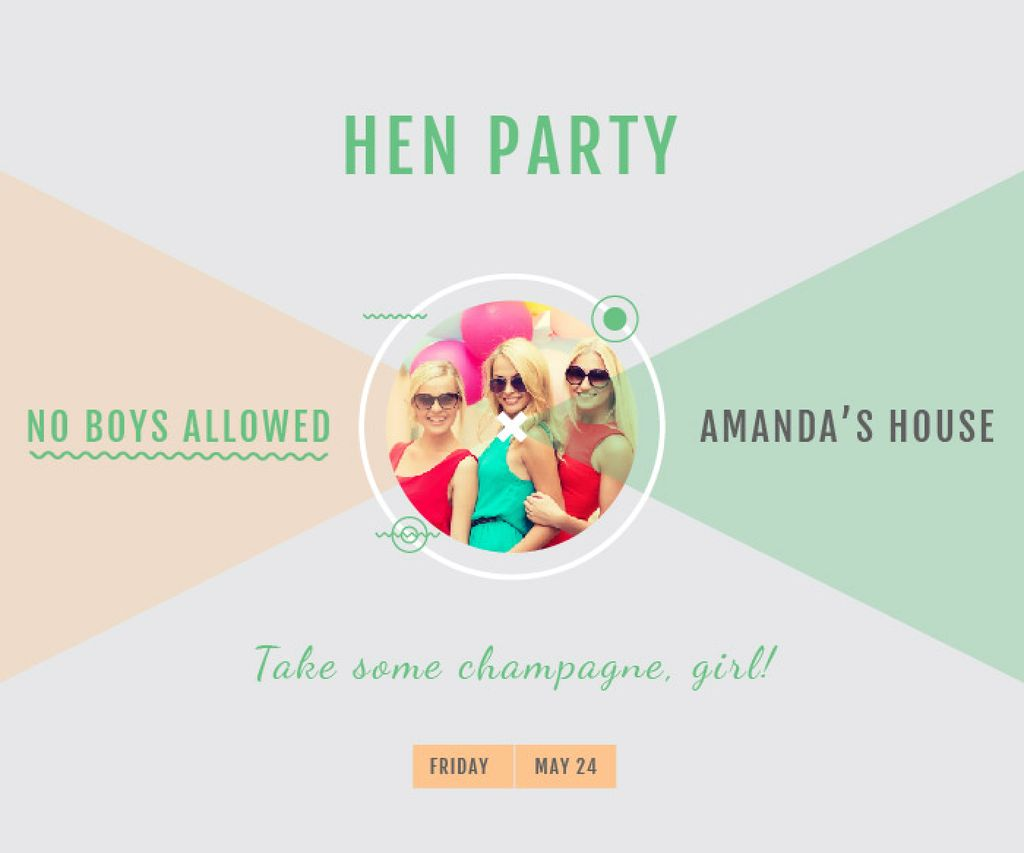 Hen party for girls in Amanda's House - Vytvořte návrh