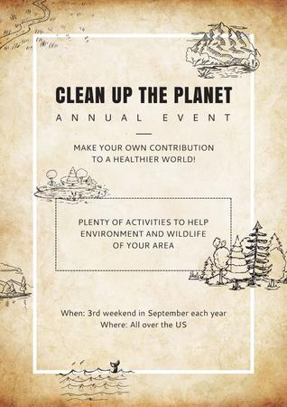 Template di design Clean up the Planet Annual event Poster