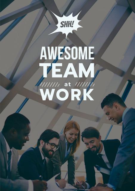 Modèle de visuel Successful Business Team at the Meeting - Poster