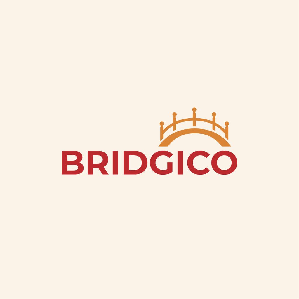Elegant Bridge Icon in Yellow — Crea un design