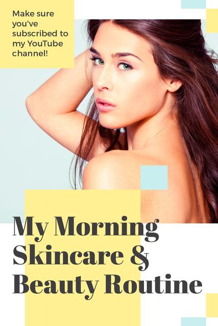 Skincare Routine Tips Woman with Glowing Skin Tumblr Modelo de Design
