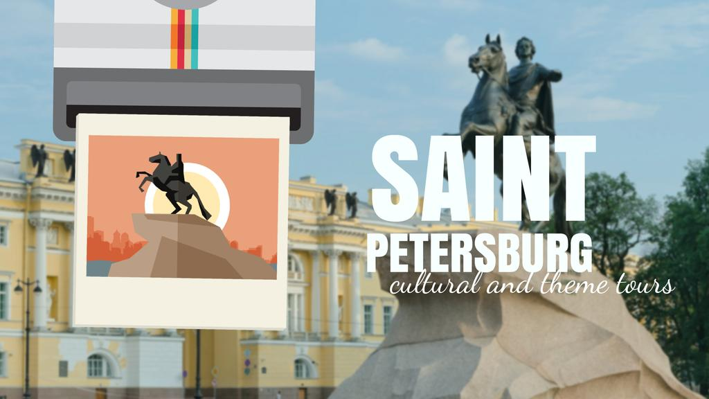 Saint Petersburg the Bronze Horseman Travelling Spot — ein Design erstellen