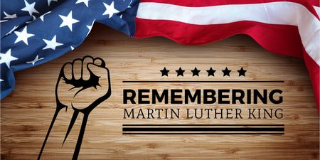 Template di design Martin Luther King day Twitter