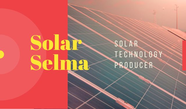 Plantilla de diseño de Solar panels in rows Business card