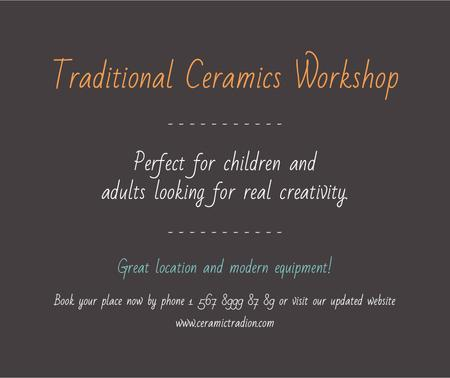 Plantilla de diseño de Traditional Ceramics Workshop promotion Facebook