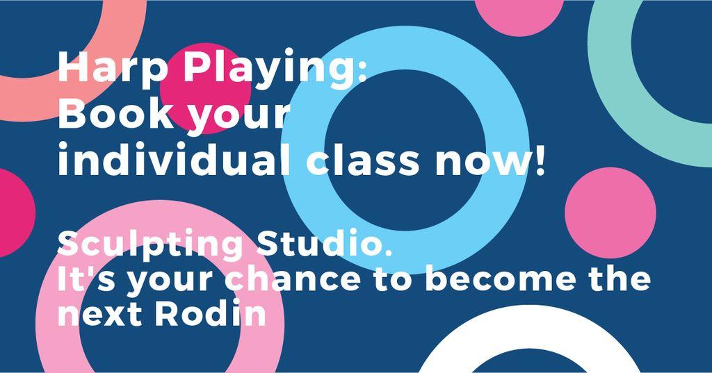 Ontwerpsjabloon van Facebook AD van Sculpting Studio Offer on colorful pattern