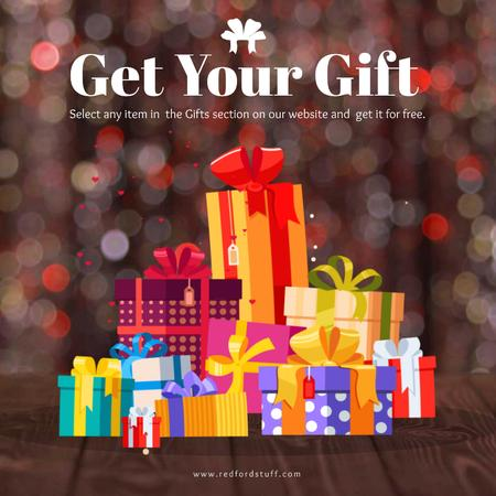 Stack of Bright Gift boxes Animated Post – шаблон для дизайна