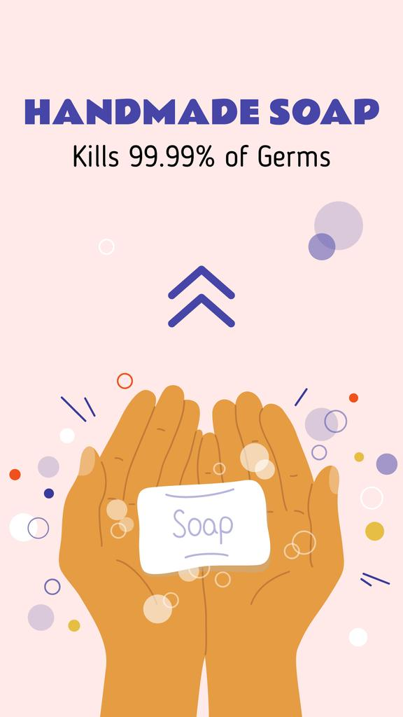 Cleansers ad with Hand Washing — Modelo de projeto