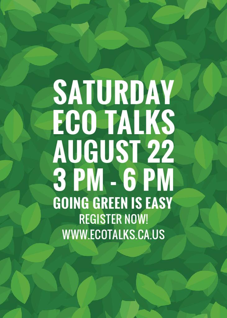 Saturday eco talks  — Créer un visuel
