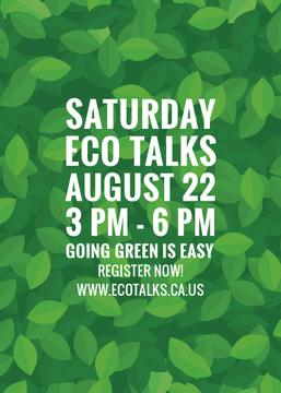 Saturday eco talks