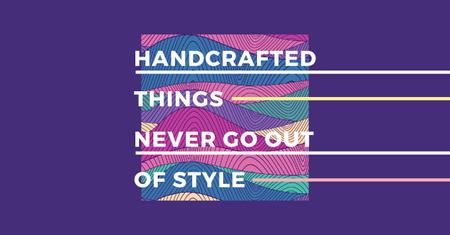 Plantilla de diseño de Citation about Handcrafted things Facebook AD