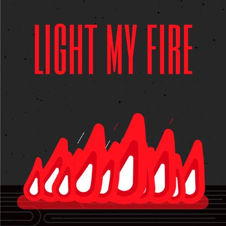 Plantilla de diseño de Burning Red Fire Flames Animated Post