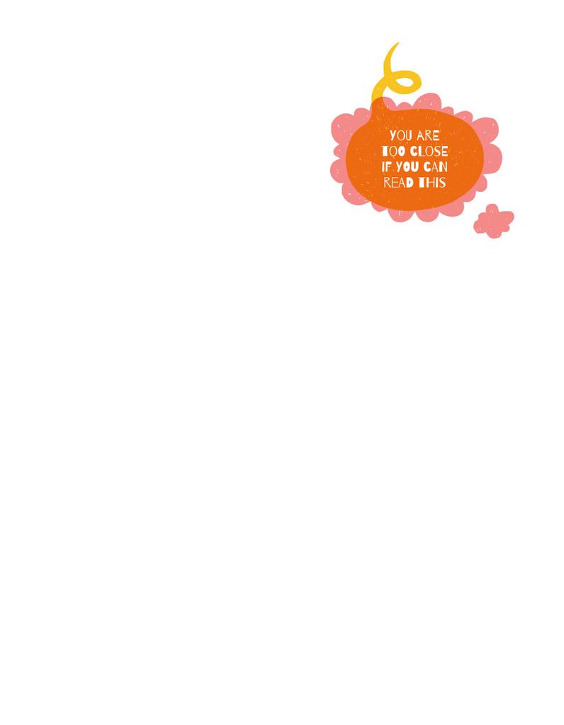 Funny Phrase on Orange blot — Modelo de projeto