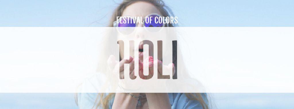 Indian Holi festival celebration — Modelo de projeto