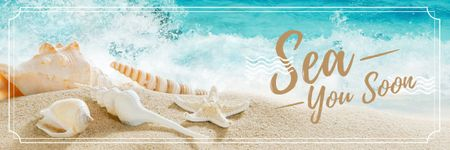 Template di design Summer vacation Ad Email header