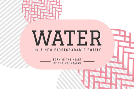 Szablon projektu Water brand ad on abstract pattern Label