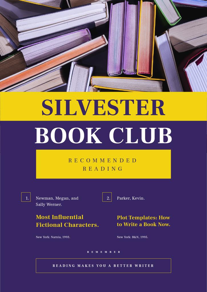 Book Club Promotion in Purple — Create a Design